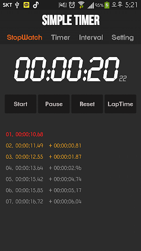 Simple Stopwatch Interval