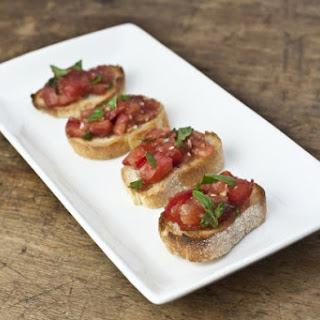 Fresh Tomato Bruschetta with Basil.
