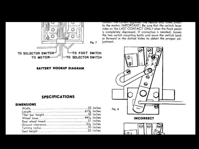 cushman minute miser electric cart & scooter manuals 95pgs ... cushman scooter wiring diagram #8