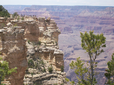 People enjoy the view at the Grand Canyon