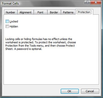 How to protect Worksheets in MS Excel