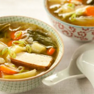 Miso Soup with Garlic and Ginger.