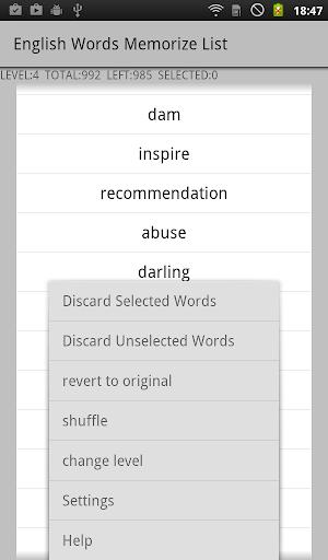 English Vocabulary List 1.0 Windows u7528 9