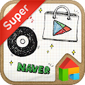 DrawingNote LINELauncher theme icon