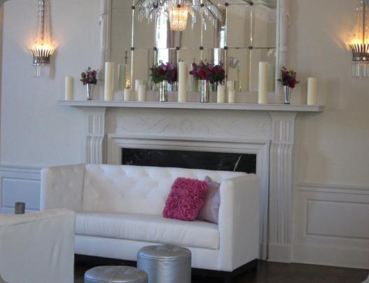 mantel-nika blush floral design
