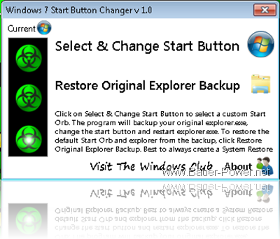 How To Change The Start Button in Windows 7 ~ Bauer-Power Media