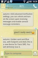 Screenshot of Easy SMS Beach theme