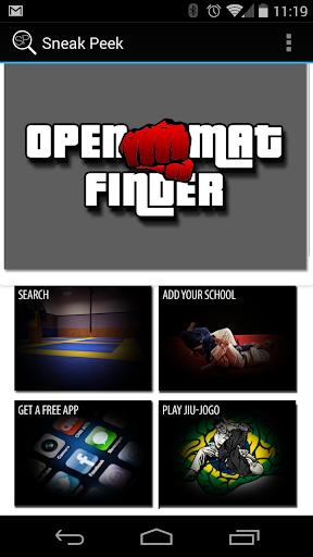 Open Mat Finder