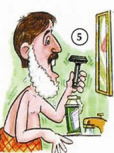 shave Everyday Activities people english through pictures