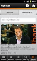 Screenshot of Swedbank