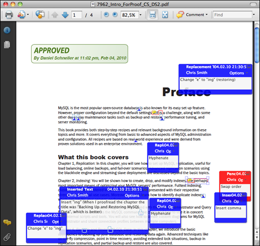Adobe Reader showing the same document