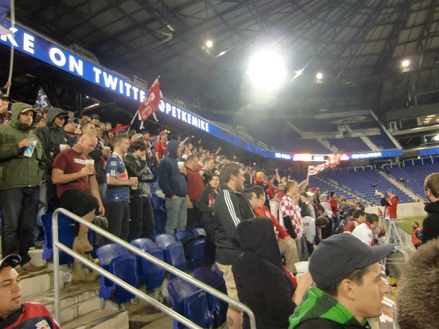 4c194c26818 For the first time this season, I joined in the Supporters Section fun. And  much fun it was! At some point, we were even joined by a few New England  fans, ...