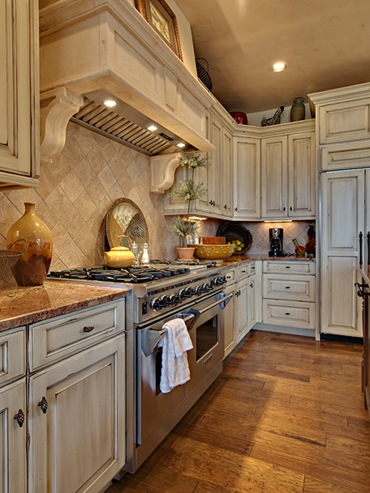 incredible cream distressed kitchen cabinets | Designing Your Dream Home: Mountain Homes-Kitchens ...