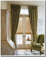 drapes with woven shades