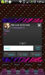GO SMS THEME ColorfulZebra