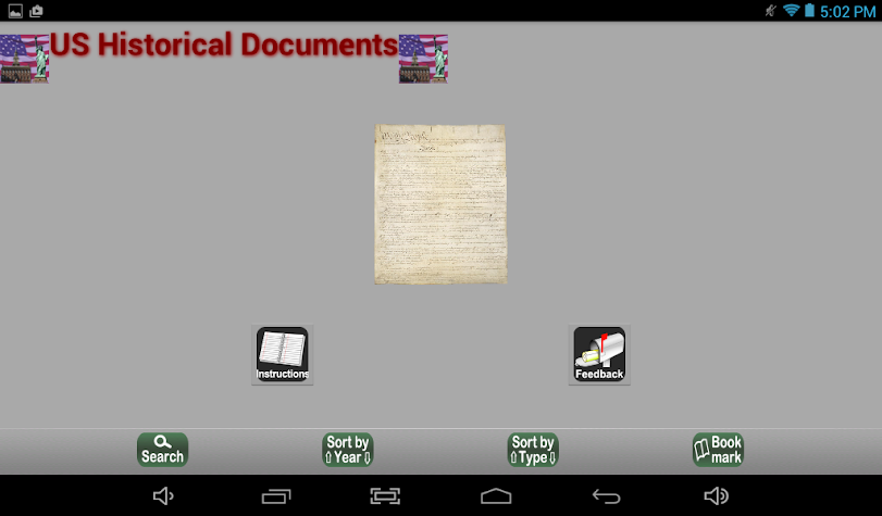US Historical Documents Screenshot