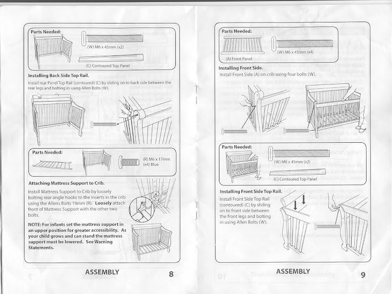 Crafted by little me: simplicity crib -ellis instructions.