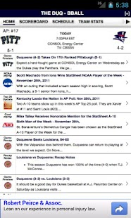 Duquesne Football & Basketball - screenshot thumbnail