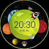 Planet Clock Zooper Widget