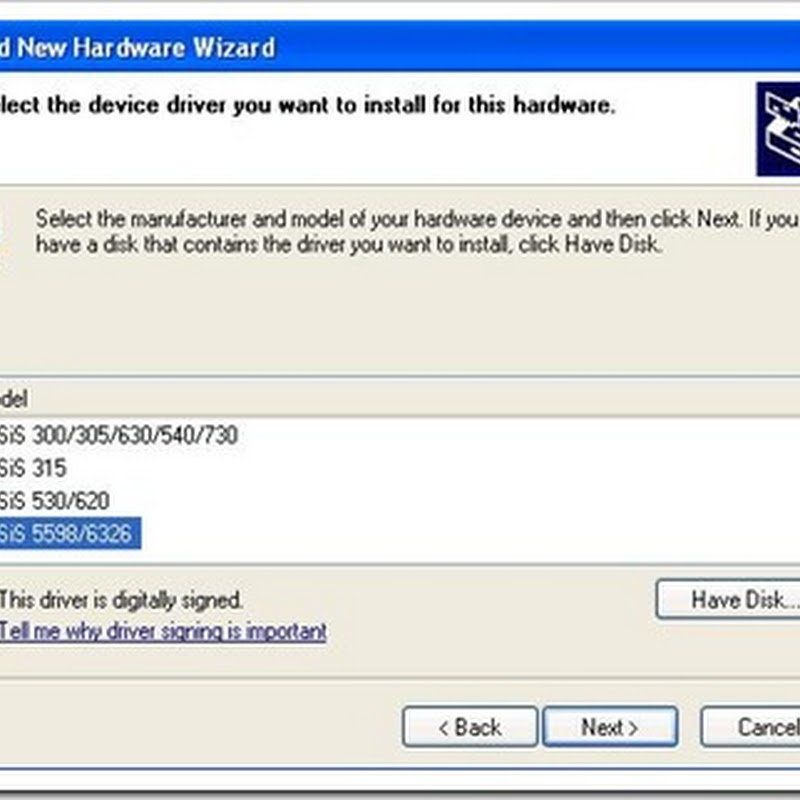 How to install sis 6215 vga driver on XP | Tips-Tricks