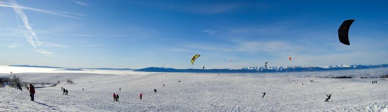 Snowkite en haute savoie photo panoramique