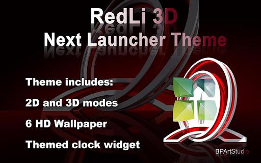 RedLi 3D theme