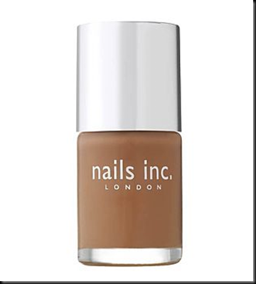 nails inc cadogan square camel polish