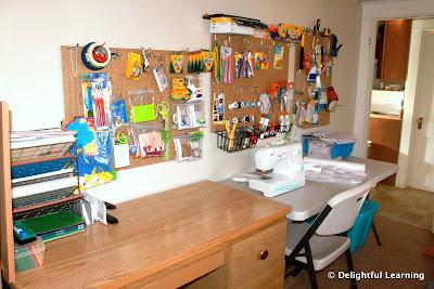 Peg Board Organizing System Delightful Learning
