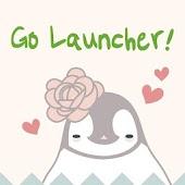 Pepe-flower Go Launcher theme