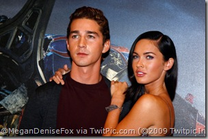 Shia LaBeouf & Megan Fox @ Photocall at Hotel George V on in Paris, France. [click to enlarge]