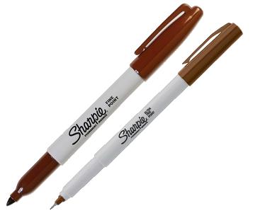 Brown Sharpie Markers