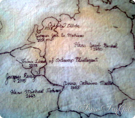 Drop Cloth Fabric - Map of Europe