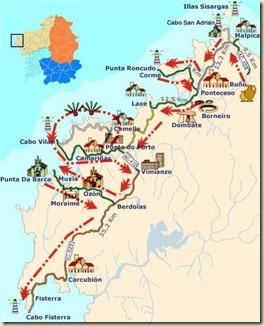 Mapa Costa Da Morte.Digo A Bordo Espanha Costa Da Morte