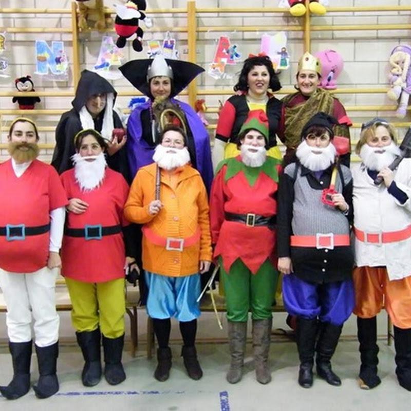 Ideas disfraz casero de Blancanieves y los 7 enanitos para grupos