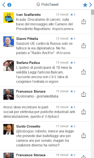PolisTweet - politica italiana