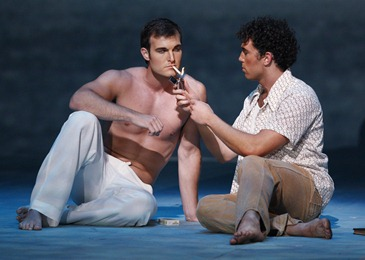 Jonathan Blalock and Wes Mason in the World Premiere of Jorge Martín's BEFORE NIGHT FALLS, Fort Worth Opera, 2010 [Photo by Ellen Appel]