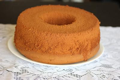 photo of a whole Vanilla chiffon cake