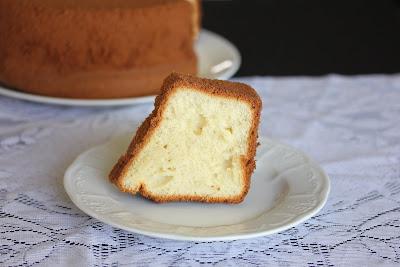 photo of a slice of Vanilla chiffon cake