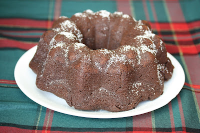 photo of a chocolate bundt cake