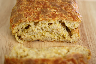 close-up photo of Cheesy Beer Bread