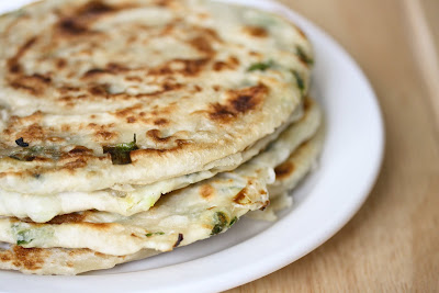 close-up photo of Green Onion Pancakes