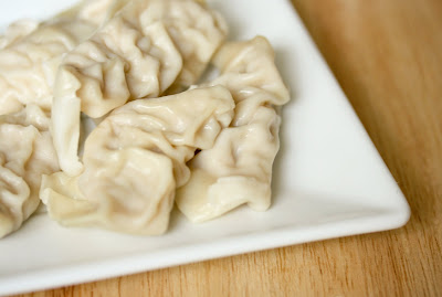 close-up photo of a plate of dumplings