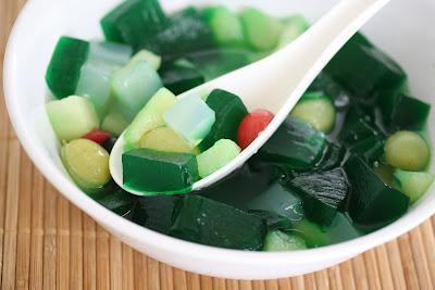 Pandan agar jelly