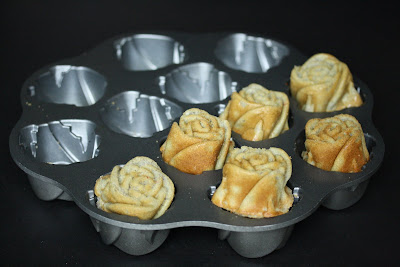 photo of mochi roses in a baking pan