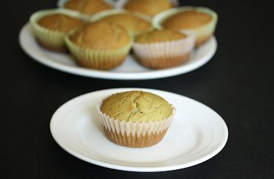 photo of a Matcha Green Tea Mochi Cupcake on a plate