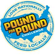 image of the pound for pound challenge logo