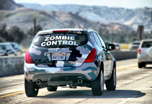 Photo of a Los Angeles County zombie control car