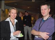 Liina-Maria Munari (EC) in gesprek met Bart Severi (Vlaamse overheid)