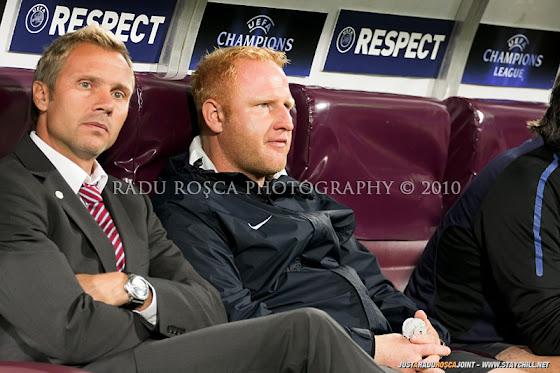 UEFA Champions League 2010/11. CFR Cluj - FC Basel 2-1 // Thorsten Fink, managerul general al FCB