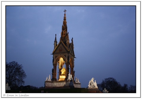 The Albert Memorial at night - Kensington Gardens